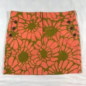 J. Crew Cotton Twill Floral Miniskirt 6